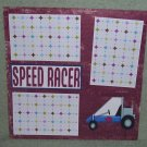 """Space Racer 2""-Premade Scrapbook Page 12x12"