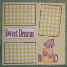 """Sweet Dreams""-Premade Scrapbook Page 12x12"