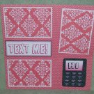"""""""Text Me""""-Premade Scrapbook Page 12x12"""