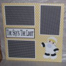 """The Sky's The Limit""-Premade Scrapbook Page 12x12"