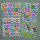 """Toyland Horse nw""-Premade Scrapbook Page 12x12"