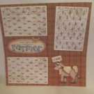 """""""Wanna Be A Farmer Cow""""-Premade Scrapbook Page 12x12"""