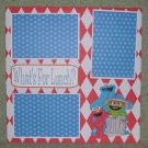 """What's For Lunch ss""-Premade Scrapbook Page 12x12"