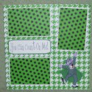 """""""You Can Count on Me ss""""-Premade Scrapbook Page 12x12"""