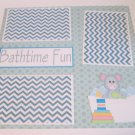 """Bathtime Fun a""-Premade Scrapbook Page 12x12"