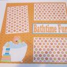 """Bathtime Fun b""-Premade Scrapbook Page 12x12"