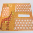"""Big Giraffe st a""-Premade Scrapbook Page 12x12"