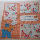 """My Little Cookie Monster ss""-Premade Scrapbook Page 12x12"