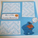 """My Little Cookie Monster""-Premade Scrapbook Page 12x12"
