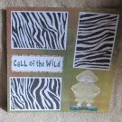 """Call Of The Wild nw""-Premade Scrapbook Page 12x12"