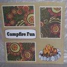 """Campfire Fun""-Premade Scrapbook Page 12x12"