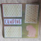 """Camping Bear 2""-Premade Scrapbook Page 12x12"