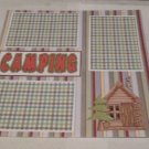"""Camping Cabin""-Premade Scrapbook Page 12x12"