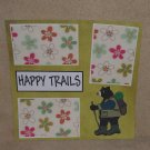 """""""Camping Happy Trails""""-Premade Scrapbook Page 12x12"""