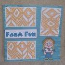 """Farm Fun Girl""-Premade Scrapbook Page 12x12"