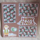 """Happy Trails mme""-Premade Scrapbook Page 12x12"