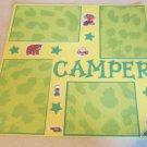 """Girl Camper""-Premade Scrapbook Page 12x12"