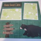 """Home Sweet Cabin Bears""-Premade Scrapbook Page 12x12"