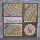 """One Happy Camper nw""-Premade Scrapbook Page 12x12"