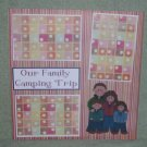 """Our Family Camping Trip""-Premade Scrapbook Page 12x12"