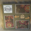 """Outdoors""-Premade Scrapbook Page 12x12"