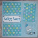 """Sailing Away""-Premade Scrapbook Page 12x12"
