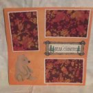 """You Are In Bear Country 1""-Premade Scrapbook Page 12x12"
