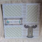 """You Are In Bear Country Moose""-Premade Scrapbook Page 12x12"