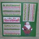 """A Holly Jolly Christmas Mr Santa""-Premade Scrapbook Page 12x12"