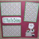 """All I Want For Christmas 2a""-Premade Scrapbook Page 12x12"