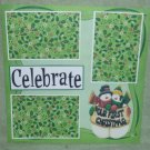 """Celebrate Our First Christmas""-Premade Scrapbook Page 12x12"
