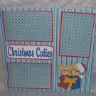 """Christmas Cuties a""-Premade Scrapbook Page 12x12"