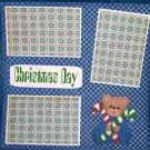 """""""Christmas Day Bear""""-Premade Scrapbook Page 12x12"""