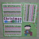 """Christmas Day Boy""-Premade Scrapbook Page 12x12"