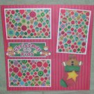"""Christmas Is For Kids Stocking""-Premade Scrapbook Page 12x12"