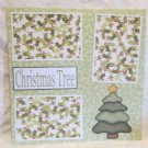 """Christmas Tree""-Premade Scrapbook Page 12x12"