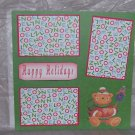 """Happy Holidays Bear""-Premade Scrapbook Page 12x12"