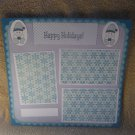"""Happy Holidays Snowman 2""-Premade Scrapbook Page 12x12"