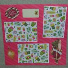 """Happy Holidays Tis The Season""-Premade Scrapbook Page 12x12"
