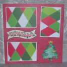 """Happy Holidays Tree""-Premade Scrapbook Page 12x12"