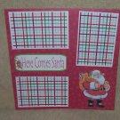 """""""Here Comes Santa a""""-Premade Scrapbook Page 12x12"""