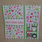 """Here Comes Santa Train""-Premade Scrapbook Page 12x12"
