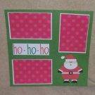 """""""Ho Ho Ho a""""-Premade Scrapbook Page 12x12"""