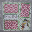 """Holiday Magic""-Premade Scrapbook Page 12x12"