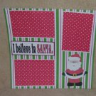 """I Believe In Santa kw""-Premade Scrapbook Page 12x12"
