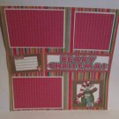 """""""Beary Christmas c""""-Premade Scrapbook Page 12x12"""