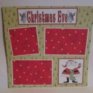 """Christmas Eve bl c""-Premade Scrapbook Page 12x12"