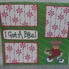 """I Got A Bike""-Premade Scrapbook Page 12x12"