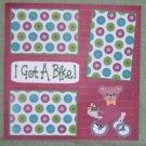 """""""I Got A Bike a""""-Premade Scrapbook Page 12x12"""