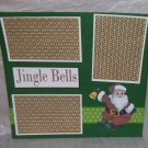 """Jingle Bells Santa""-Premade Scrapbook Page 12x12"